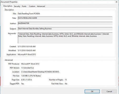 PDF Document Properties