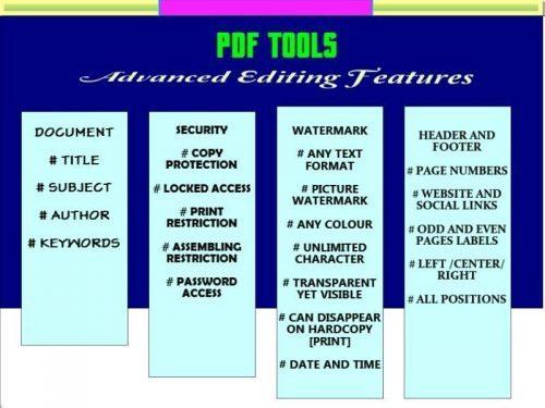 PDF Tools Unlock And Edit PDF files
